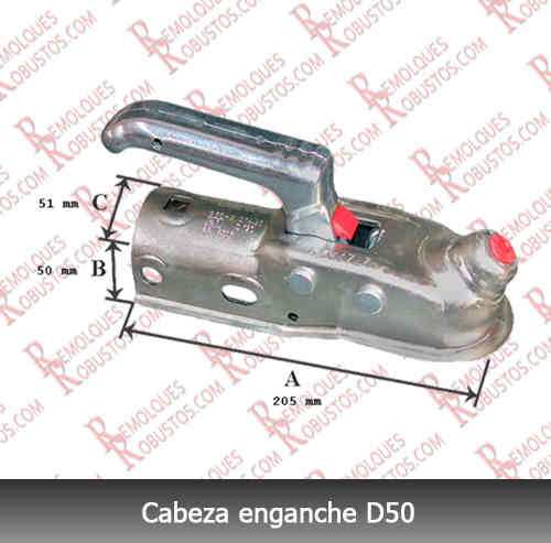 Cabeza enganche 1600kg interior 50mm